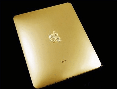 Gold and Diamond studded iPad