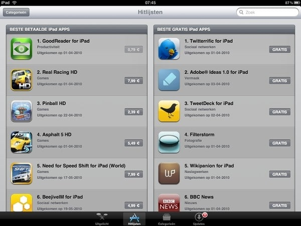 ipad apps store goes international
