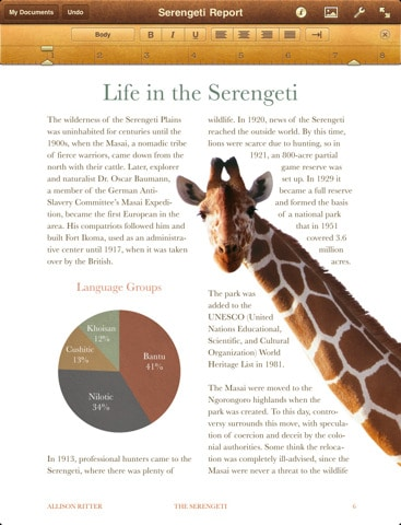 Pages for iPad review