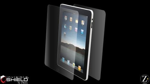 Invisible shield for iPad
