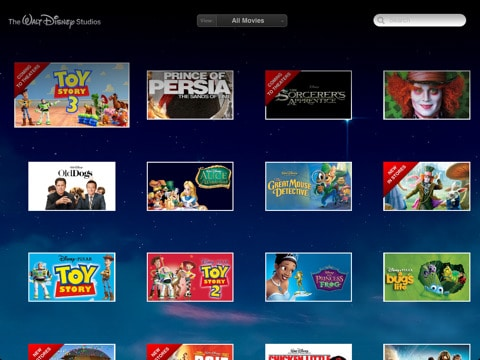 disney movie app for the iPad