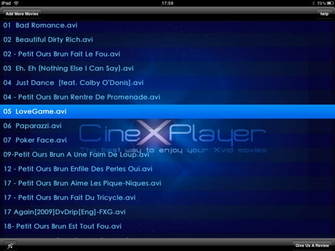 cinexplayer for iPad