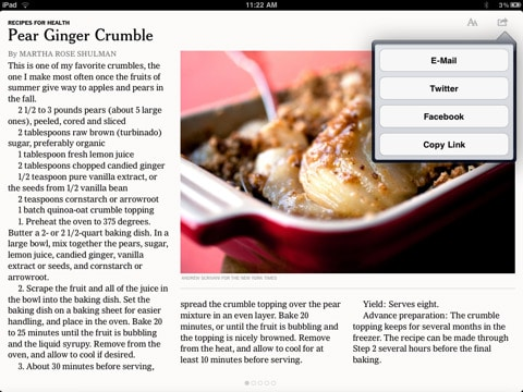 NYTimes get free for the iPad