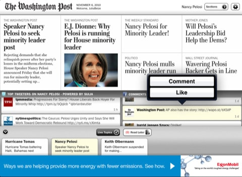 washington post iPad app