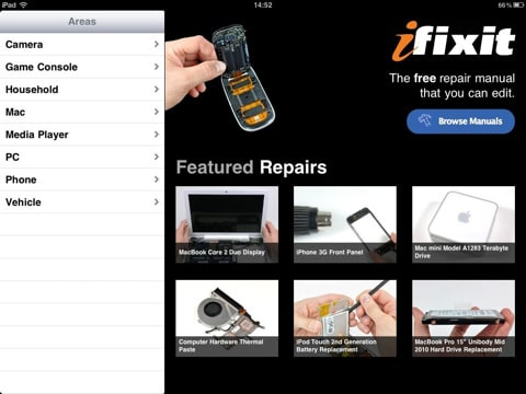 ifixit app for iPad