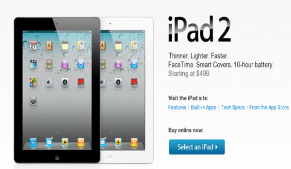 iPad2 available now