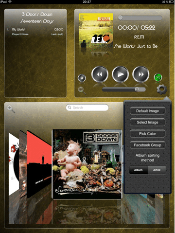 Album Flow iPad App Screenshot