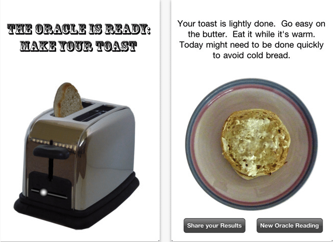 Toaster Oracle App Screenshots