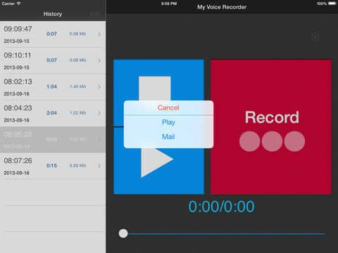 My Voice Recorder for iPad