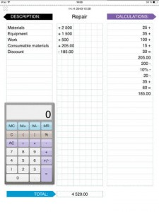 Income and Expense Calculations App