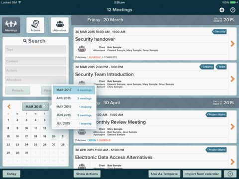 for meetings organize meeting agendas and taking notes ipad apps